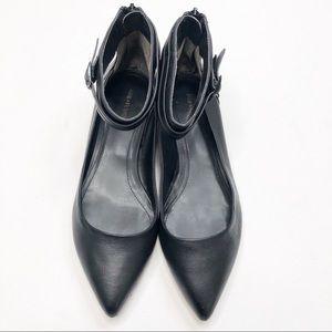 Pour la Victoire Ankle Strap Pointed Rein Flats